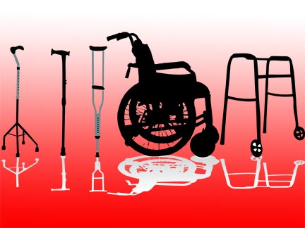 Shreveport injury victims might be forced to use wheelchairs, crutches, and mobility aids like these after being invovled in an accident. Contact a Louisiana personal injury in the Greater Shreveport area today to represent  you.